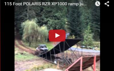 115 Foot POLARIS RZR XP1000 ramp jump.