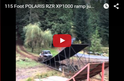 115 Foot POLARIS RZR XP1000 ramp jump.