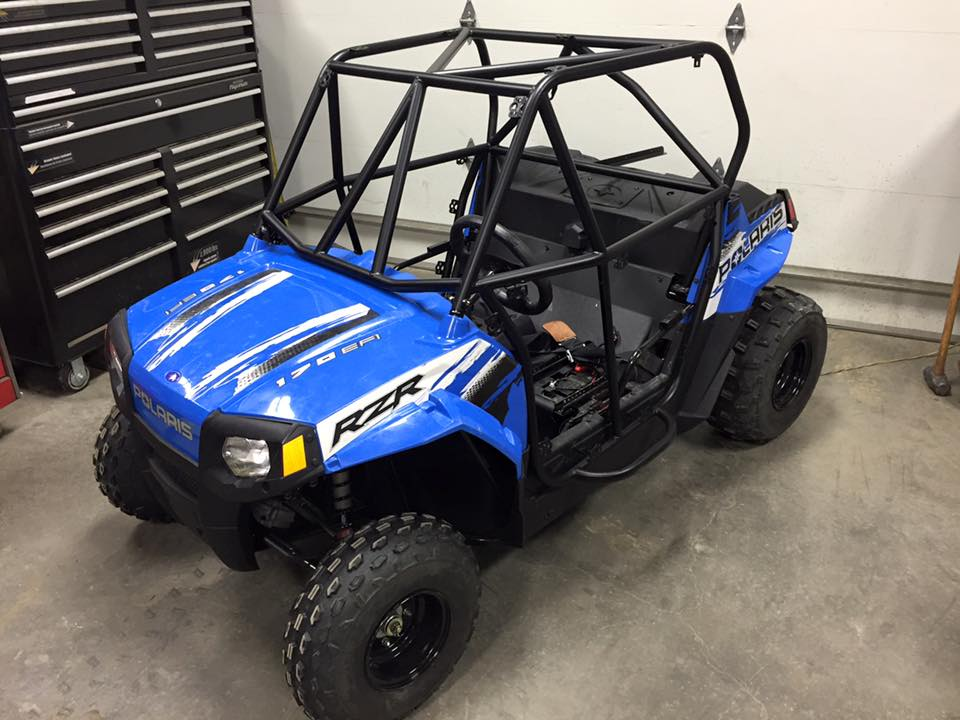 Polaris 170 Race Cage with Solid Doors